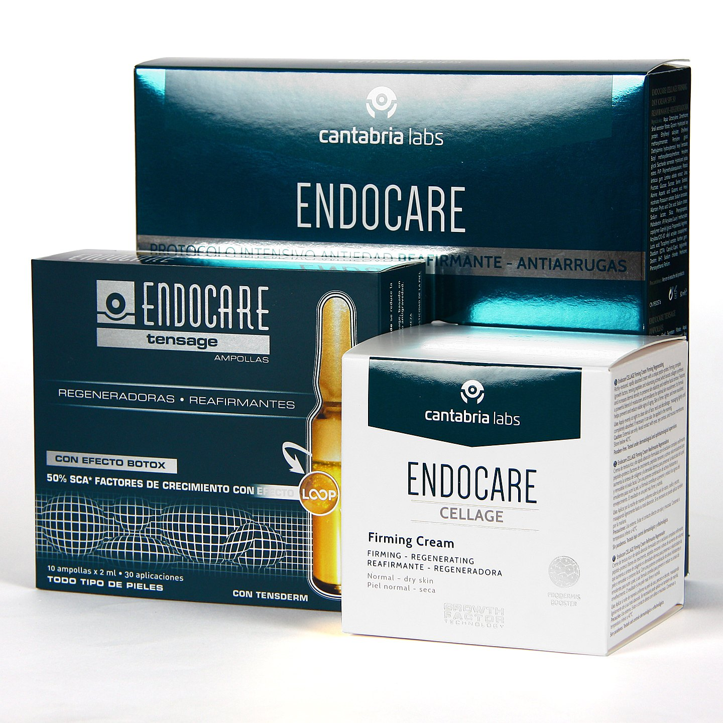 Endocare Cellage Firming Crema + 10 Ampollas Tensage Pack..