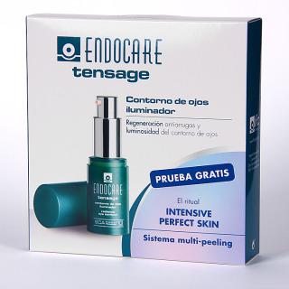 Endocare Tensage Contorno de ojos iluminador 15 ml Pack + Sistema multi-peeling Regalo