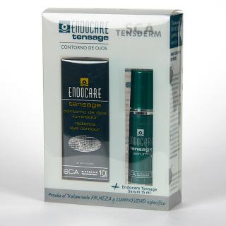 Endocare Tensage Contorno de ojos iluminador 15 ml + Serum 15 ml Gratis Pack