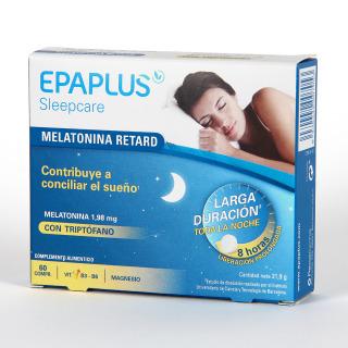 Epaplus Sleepcare Melatonina con Triptófano Retard 60 comprimidos