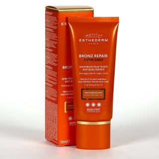 Esthederm Bronz Repair Sunkissed Crema Color Antiarrugas Sol Fuerte 50 ml