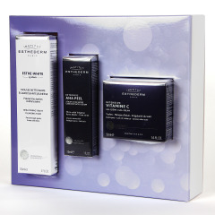 Esthederm Intensive AHA PEEL Serum + Vitamina C Gel Crema + Esthe-White espuma Pack regalo
