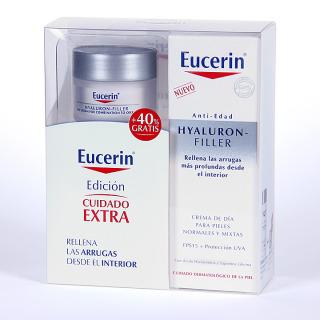 Eucerin Hyaluron-filler Crema de día pieles normales y mixtas 50 ml + 40% regalo