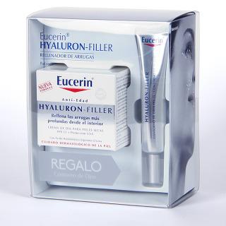 Eucerin Hyaluron-Filler Crema de día pieles secas + contorno de ojos regalo