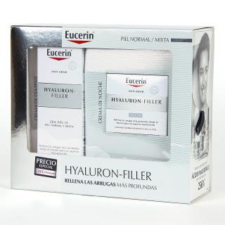 Eucerin Hyaluron Filler Crema día + Crema Noche piel normal mixta Pack