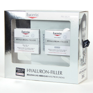 Eucerin Hyaluron Filler Crema día + Crema noche piel seca Pack