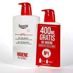 Eucerin pH5 Gel de baño 1000 ml + 400 ml Gratis Pack Ahorro