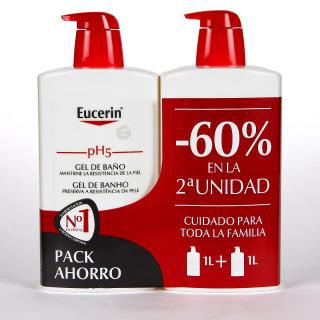 Eucerin pH5 Gel de baño 1L + 1L Pack Duplo