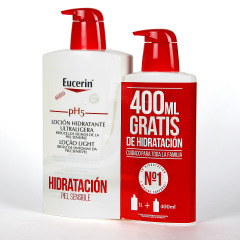 Eucerin pH5 Loción ultraligera 1L + 400 ml Gratis Pack Promo