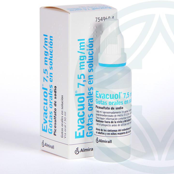 Evacuol 7,5 mg/ml gotas orales 30 ml