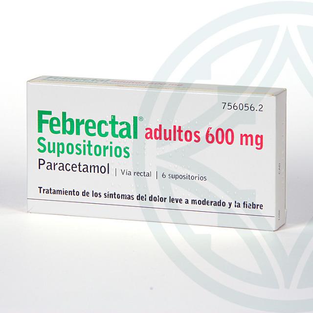 Febrectal Adultos 6 supositorios