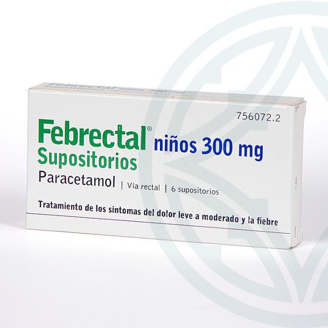 Febrectal Infantil 6 supositorios