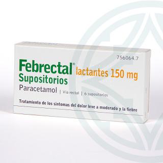 Febrectal Lactantes 6 supositorios