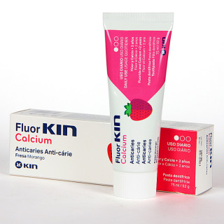 Fluor Kin calcium pasta dentífrica 75 ml