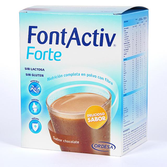 Fontactiv Forte sabor chocolate 14 sobres