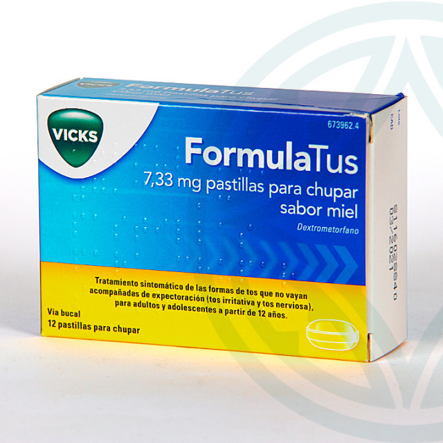 FormulaTus 7,33 mg 12 pastillas para chupar Miel