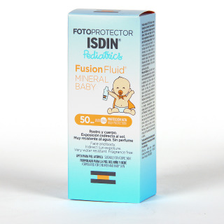 Fotoprotector Isdin Pediatrics Fusion Fluid Mineral Baby SPF 50+ 50 ml