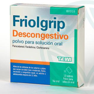 Friolgrip descongestivo 10 sobres polvo para solución oral