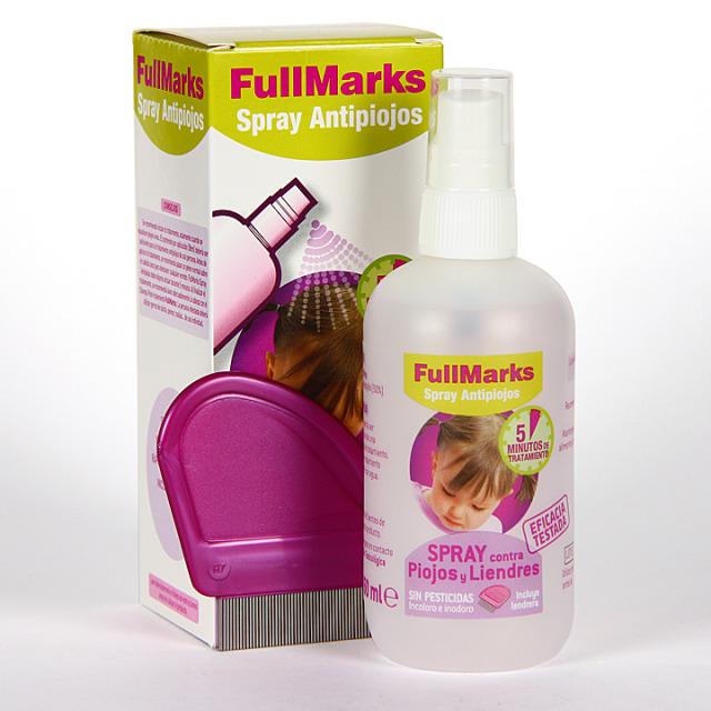 FullMarks Spray Pediculicida contra piojos y liendres 100ml+liendrera