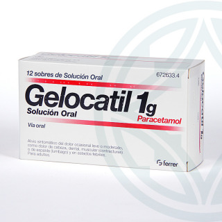 Gelocatil 1 g 12 sobres solución oral