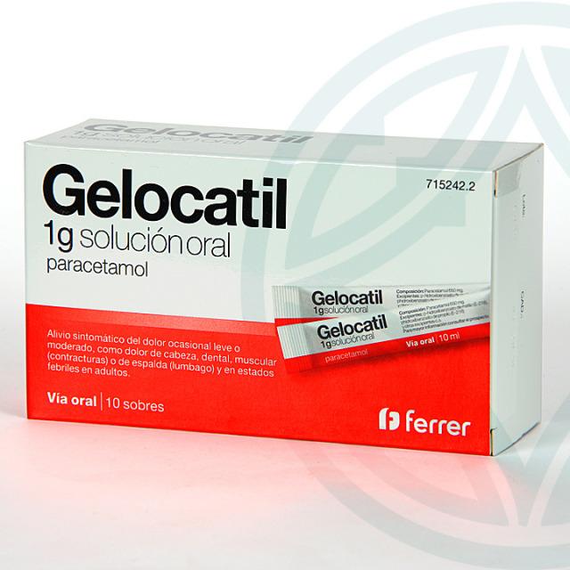 Gelocatil 1 g solución oral 10 sobres