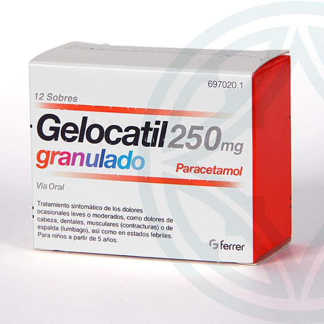 Gelocatil 250 mg 12 sobres granulado