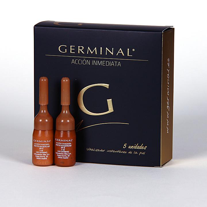 Germinal Acción inmediata 5 ampollas 1.5ml + regalo 2 ampollas Germinal efecto maquillaje