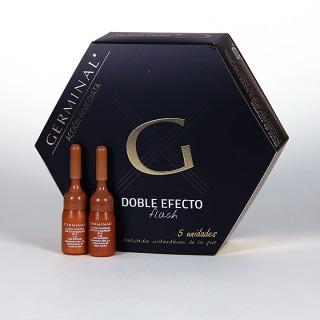 Germinal Acción inmediata 5 ampollas Doble Efecto Flash 1.5ml + regalo 2 ampollas Germinal Efecto Maquillaje