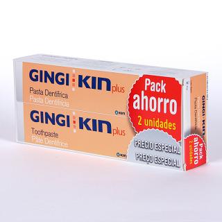 GingiKin Plus Pack ahorro 2 unidades pasta dentífrica 125 ml