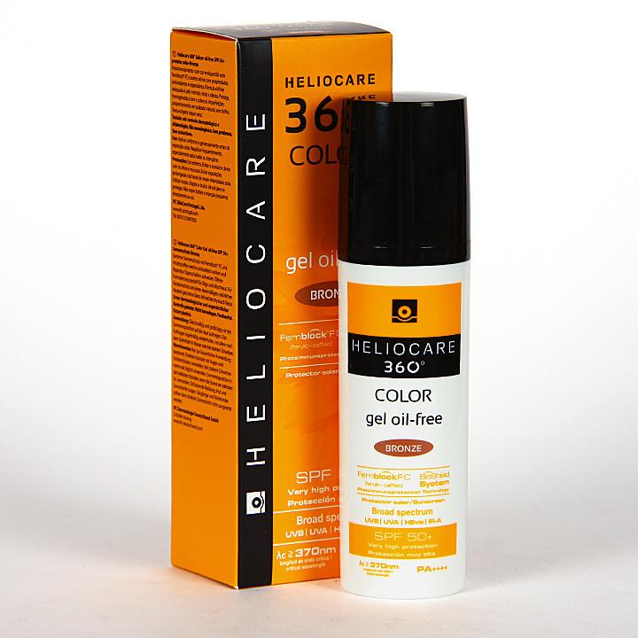 Heliocare 360° Color Gel oil-free SPF 50+ Bronze 50 ml + Endocare-C oil free 7x1 ml ampollas Regalo