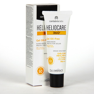 Heliocare 360 Gel Oil-Free SPF 50 50 ml + Pack regalo Endocare Radiance C oil Free 10 ampollas + neceser
