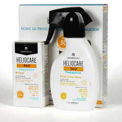 Heliocare 360 Pediatrics Mineral SPF 50+ 50 ml + Heliocare 360º Pediatrics Atopic Loción Spray SPF 50 250 ml Pack