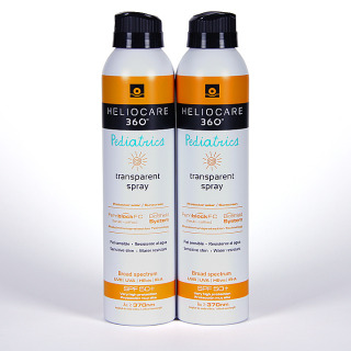 Heliocare 360 Spray transparente pediátrico SPF 50 200 ml Promoción Duplo -20%