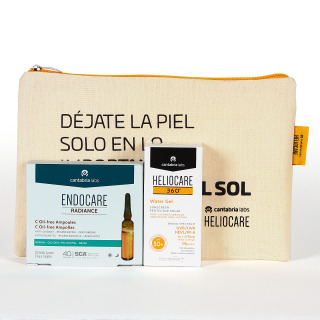 Heliocare 360 Water Gel SPF 50+ 50 ml + Pack regalo Endocare Radiance C oil Free 10 ampollas + neceser