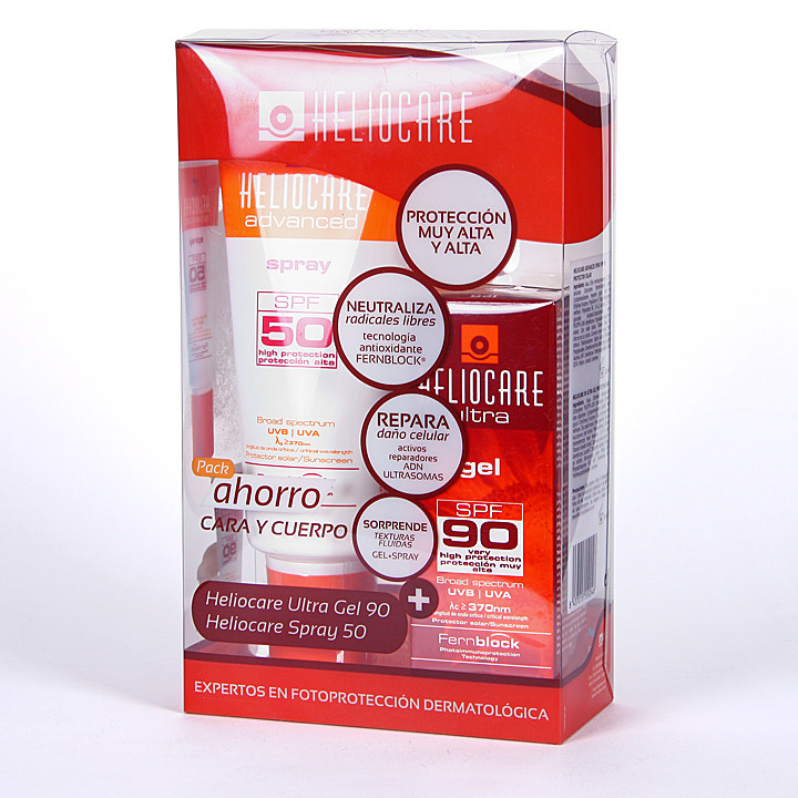 Heliocare Advanced SPF 50 Spray 200 ml + Heliocare Ultra Gel SPF 90 50 ml Pack