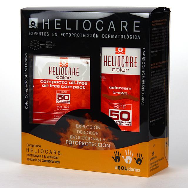 Heliocare Color Brown Gel-Crema SPF50 + Compacto oil-free Pack Duplo