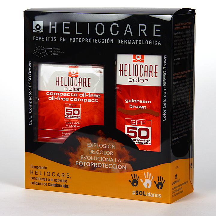 Heliocare Color Brown Gel-Crema SPF50 + Compacto oil-free Pack Duplo