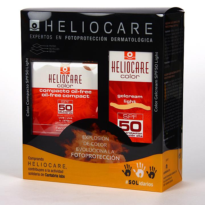 Heliocare Color Light Gel-Crema SPF50 + Compacto oil-free Pack Duplo