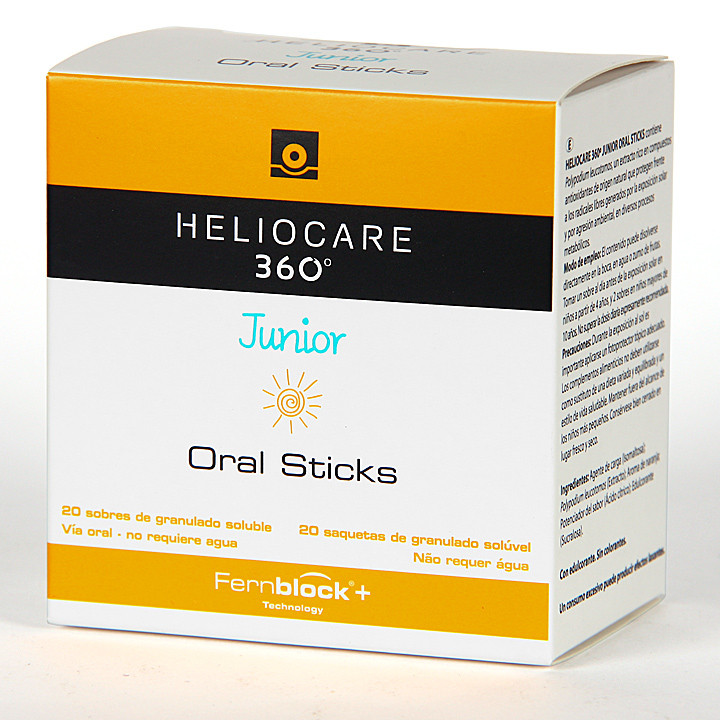 Heliocare 360 Junior Oral Sticks 20 sobres