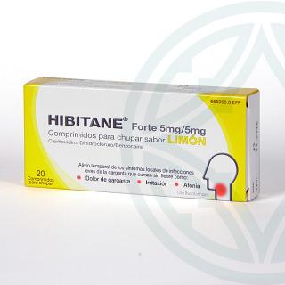 Hibitane 20 comprimidos para chupar sabor limón