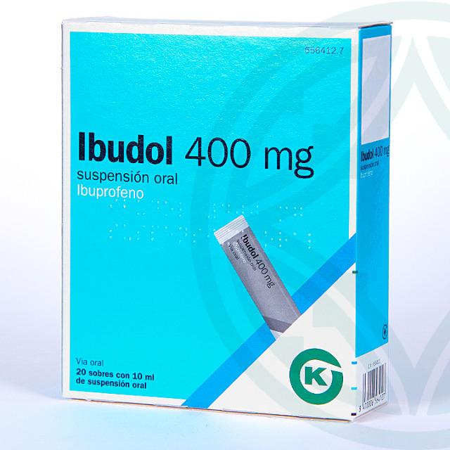 Ibudol 400 mg 20 Sobres suspensión oral 10 ml