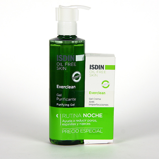 Isdin Everclean Gel purificante + Gel crema Antiimperfecciones Pack