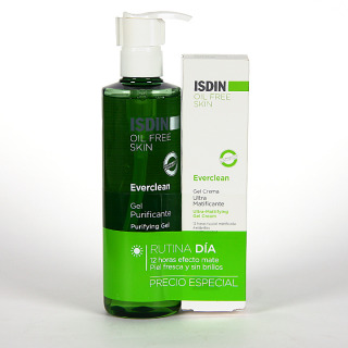 Isdin Everclean Gel purificante + Gel crema Ultra Matificante Pack