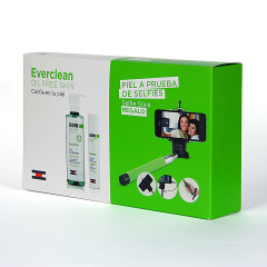 Isdin Everclean Gel purificante + gel crema ultramatificante + Palo selfie Pack