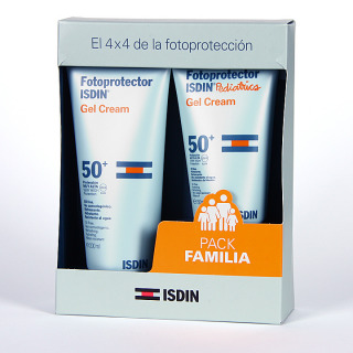 Isdin Fotoprotector Gel-crema SPF 50+ 200ml + pediatrics gel-crema pack familiar
