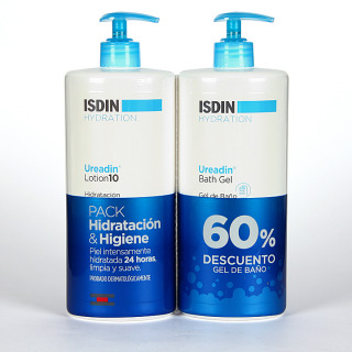 Isdin Hydration Ureadin Lotion + Gel Baño 750 ml Duplo