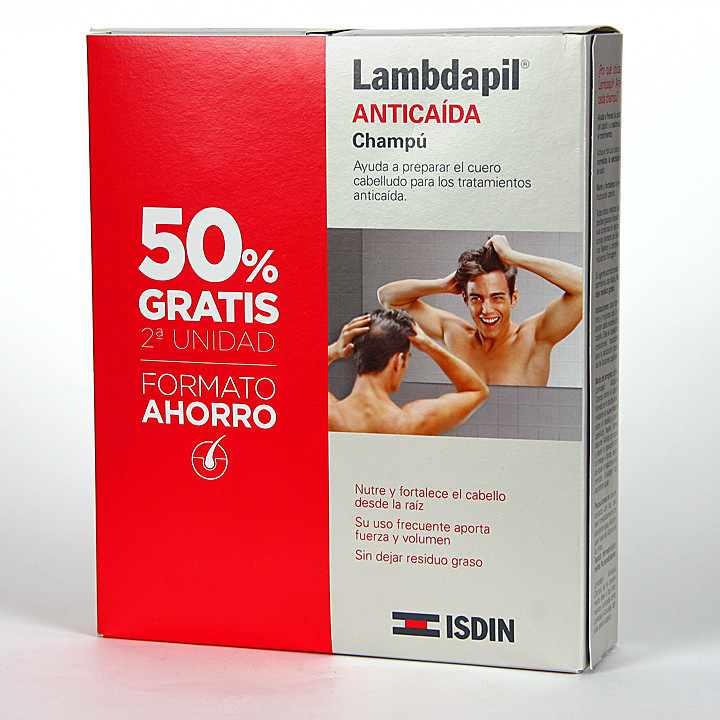 Isdin Lambdapil Anticaída Champú 400 ml Pack Duplo