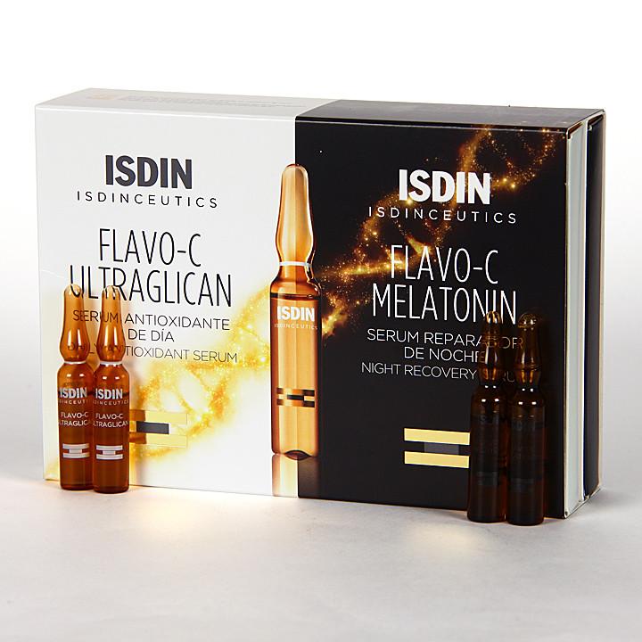 Isdinceutics Flavo-C Ultraglican + Melatonin 10+10 Ampollas Pack Minitallas