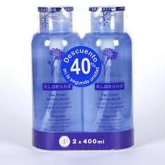 Klorane Agua Desmaquillante calmante 400 ml Duplo