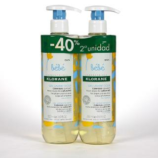 Klorane Bebé Gel Limpiador Suave 500 ml Pack Duplo